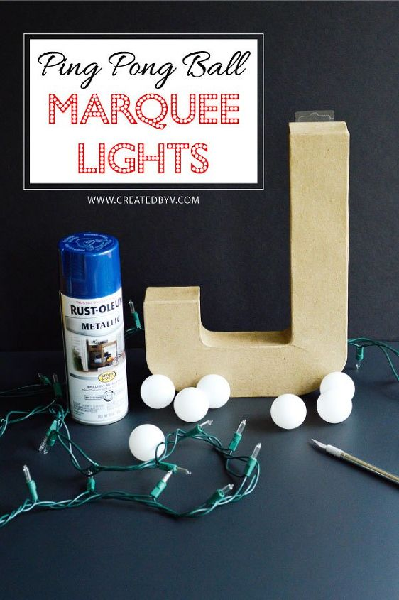 Ping Pong Ball Marquee Lights Hometalk