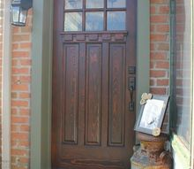 refinished craftsman front door