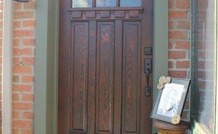refinished craftsman front door