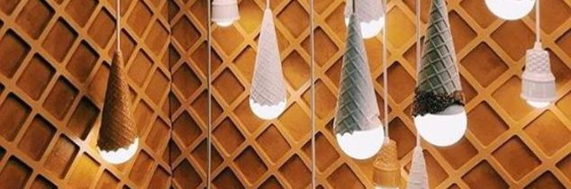 q how are these ice cream lamps made
