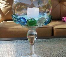 glass gem candleholder