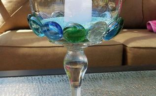glass gem candleholder