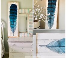 how to paint large scale feather art