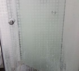 q how can i clean a glass shower door david babaioff