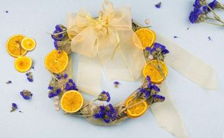 diy dried flower and fruit wreath