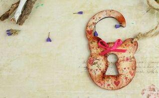 diy decoupage door knob hanger