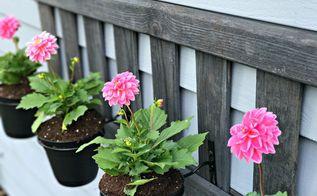 upcycled ladder planter