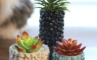 upcycle tin can pine cone planters