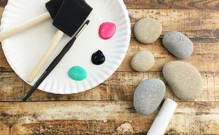 painted rock outdoor tic tac toe set