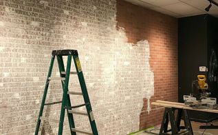 create faux brick wall using inexpensive paneling