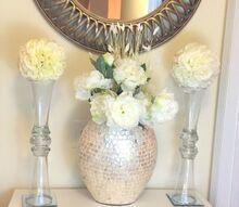 glam vase kissing ball diy dollar store