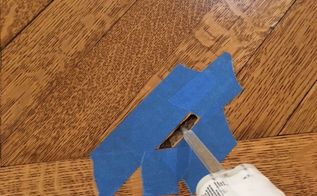 repair termite hole in hardwood floor