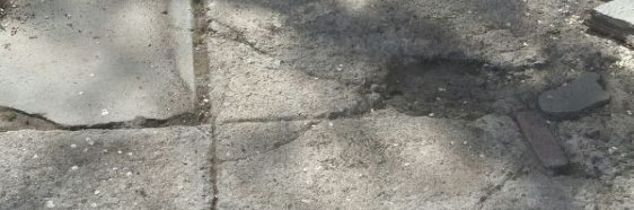 q suggestions for crumbled concrete walkway
