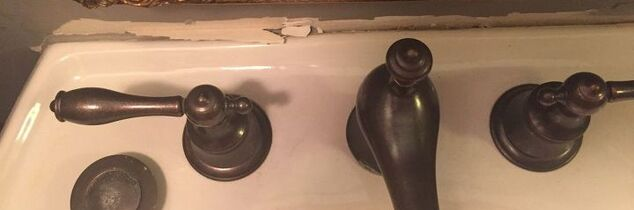 q pedestal sink pulled from wall