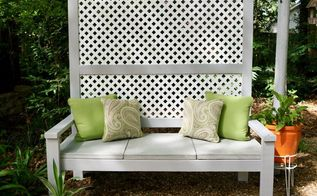 outdoor privacy bench