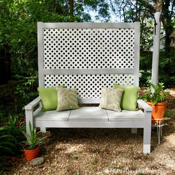 outdoor privacy bench hometalk