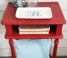 this painted red table was a huge hit