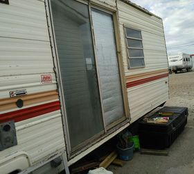 How to cut exterior replacement door to fit camp trailer home