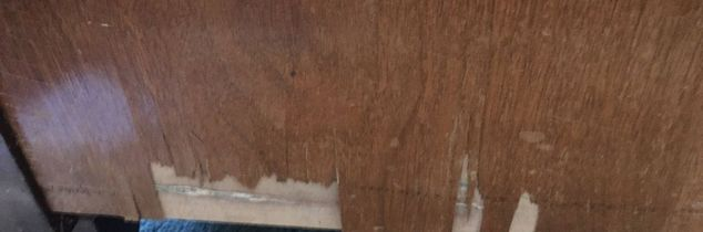q repairing old chipped veneer