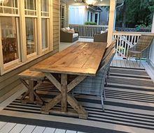 q beautiful x brace farmhouse table