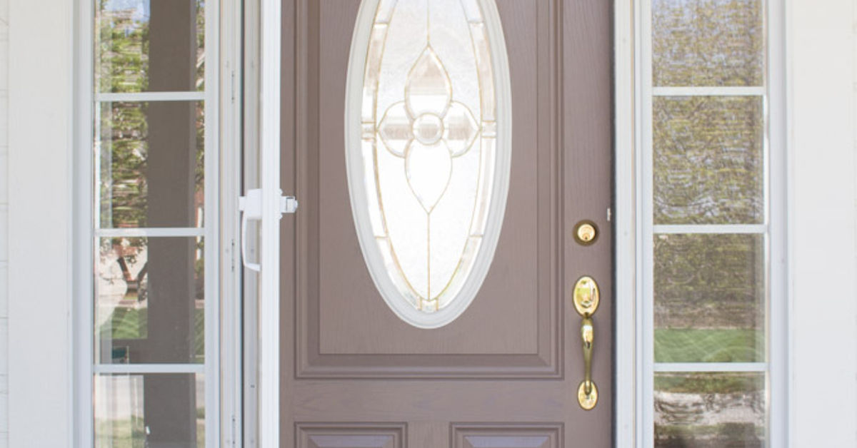15 front door redo with faux etched glass hometalk for All glass front door