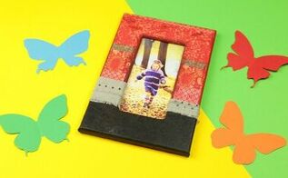 diy vintage photo frame in decoupage technik