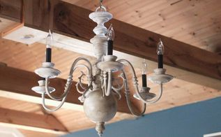 5 thrift store chandelier makeover