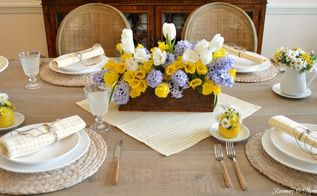 cheery spring tablescape diy
