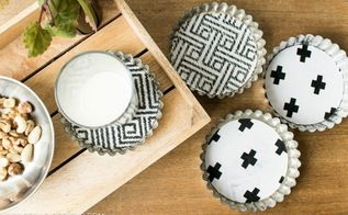 how to turn your tart tins into coasters