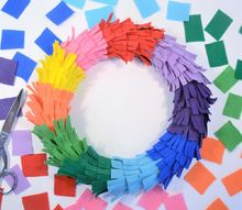 rainbow fringe wreath