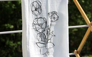 how to screen print a custom tea towel