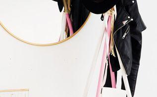 space saving diy dowel rod coat rack