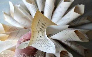 how to easily make a gorgeous book page flower