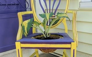 upcycled chair to planter a place to plant yourself