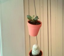 diy hanging terra cotta pots