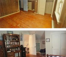 what a difference painting old wood paneling makes