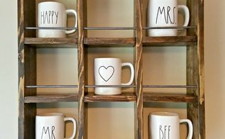 how to build a farmhouse style mug holder