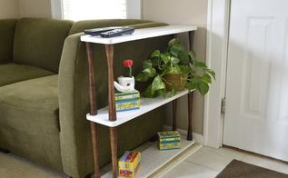 custom diy 3 tiered couch end table