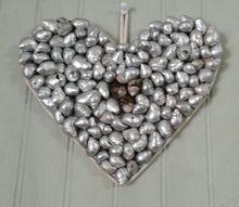 silver shell heart