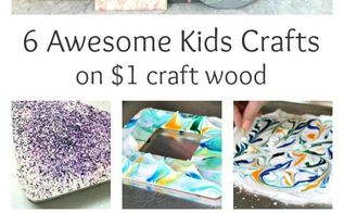 6 easy and cheap kids crafts on wood