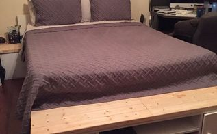 how to build a queen japanese style platform storage bed, God inspired best nights sleep EVER