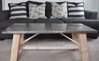 faux metal coffee table