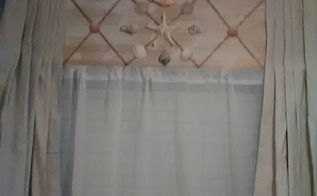 shabby beachy curtains and decor