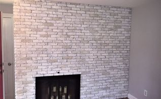 brick and brass fireplace makeover
