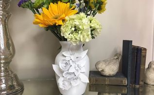 dollar store vase turned work of art