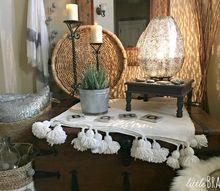 gorgeous eclectic boho style foyer