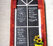 diy brick window chalkboard