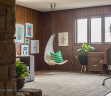 eclectic playroom office before and after