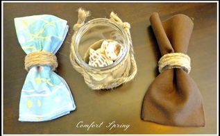 easy diy rustic accessories for coastal cottage or country table