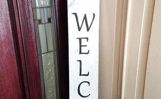 you don t need a stencil to make a cute welcome sign